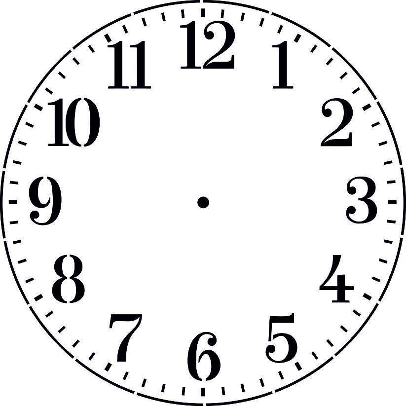 Часы своими руками шаблоны 189